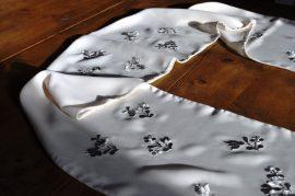 Hímzett matyó sál, stóla (bézs) 5412